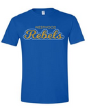 Rebels Youth Tee in Royal - choice of design