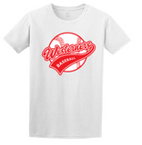 Westerners Baseball Unisex Tee in White - choice of design