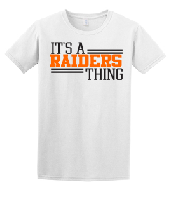Raiders Youth Tee in White - choice of design