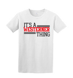 Westerners Unisex Tee in White - your choice of design