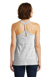 Westerners Baseball Womens White/Black Cosmic Twist Back Tank Top - your choice of design