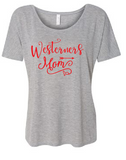 Westerners Womens Bella+Canvas Athletic Heather Slouchy Tee - your choice of design