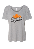 Raiders Womens Bella+Canvas Athletic Heather Slouchy Tee - your choice of design