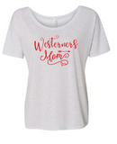 Westerners Womens Bella+Canvas White Fleck TriBlend Slouchy Tee - your choice of design