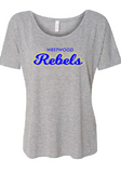 Rebels Bella+Canvas Womens Slouchy Tee in Ahtletic Heather - your choice of design