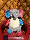 Cubbies™ Harlequin Elephant Stuffie with Custom Embroidery