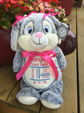 Cubbies™ Grey Bunny Stuffie with Custom Embroidery