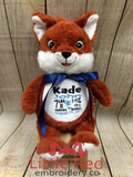 Cubbies™ Signature Collection Fox Stuffie with Custom Embroidery