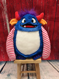 Cubbies™ Blue Monster Stuffie with Custom Embroidery