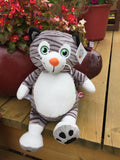 Cubbies™ Grey Cat Stuffie with Custom Embroidery