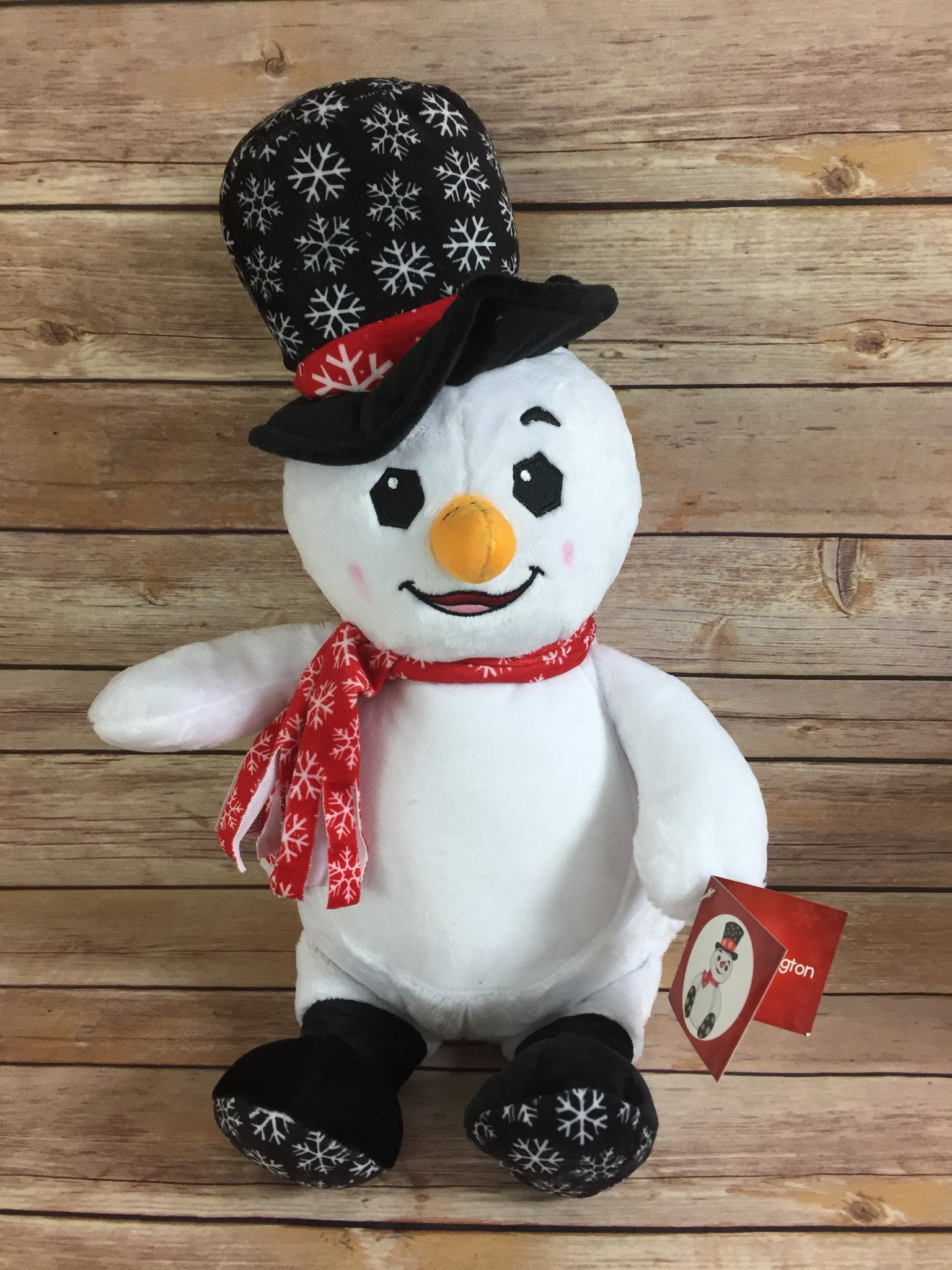 Cubbies™ Top Hat Snowman Stuffie with Custom Embroidery