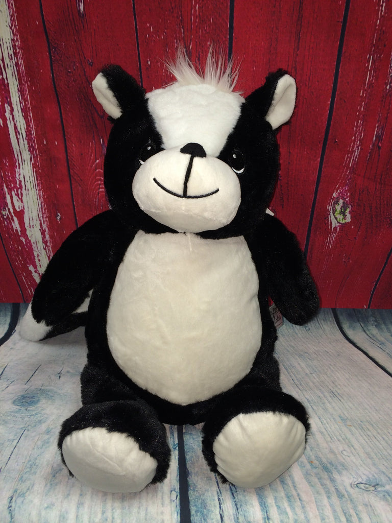 Skunk Stuffie with Custom Embroidery