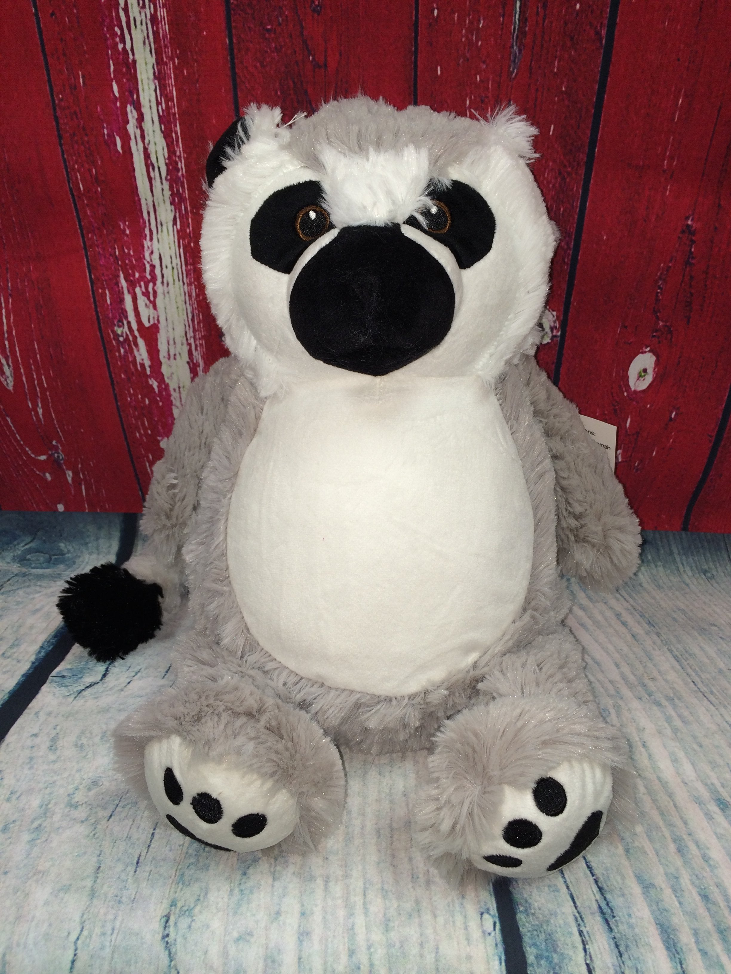 Lemur Stuffie with Custom Embroidery