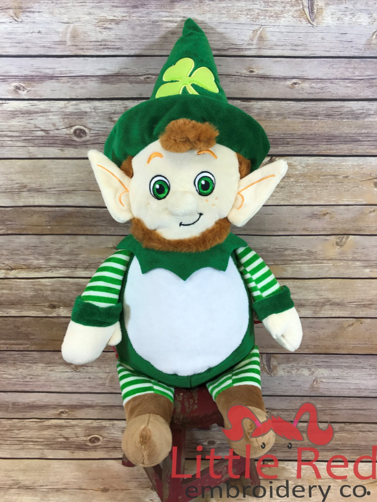 Cubbies™ Leprechaun Stuffie with Custom Embroidery