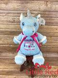 Cubbies™ Blue Unicorn Stuffie with Custom Embroidery
