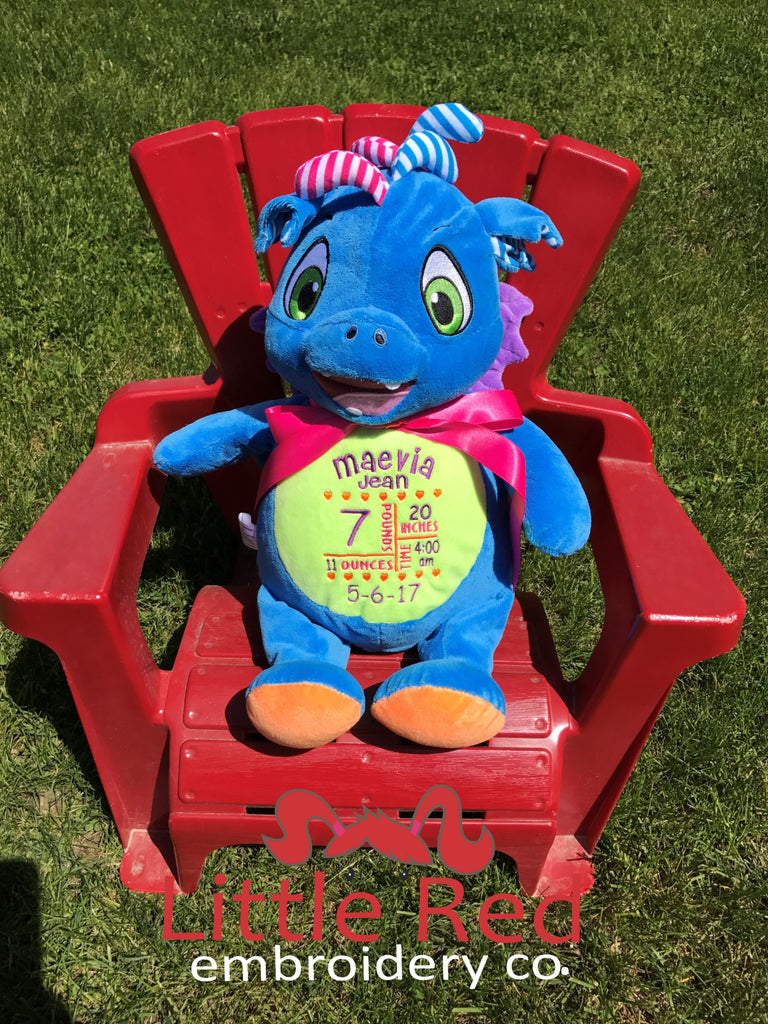 Cubbies™ Signature Collection Dragon Stuffie with Custom Embroidery