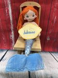 Cubbies Rag Doll Mermaid - custom embroidered!