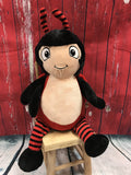 Cubbies™ Signature Collection Red & Black Ladybug Stuffie with Custom Embroidery