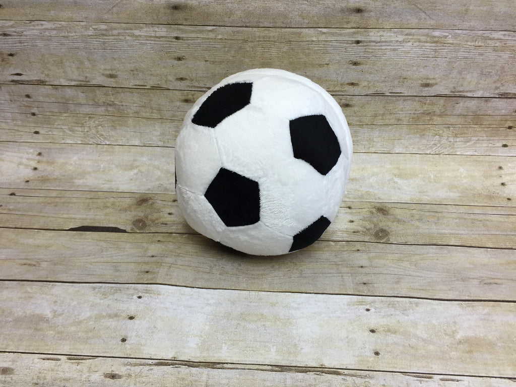 Soccer Ball Pillow Stuffie with Custom Embroidery