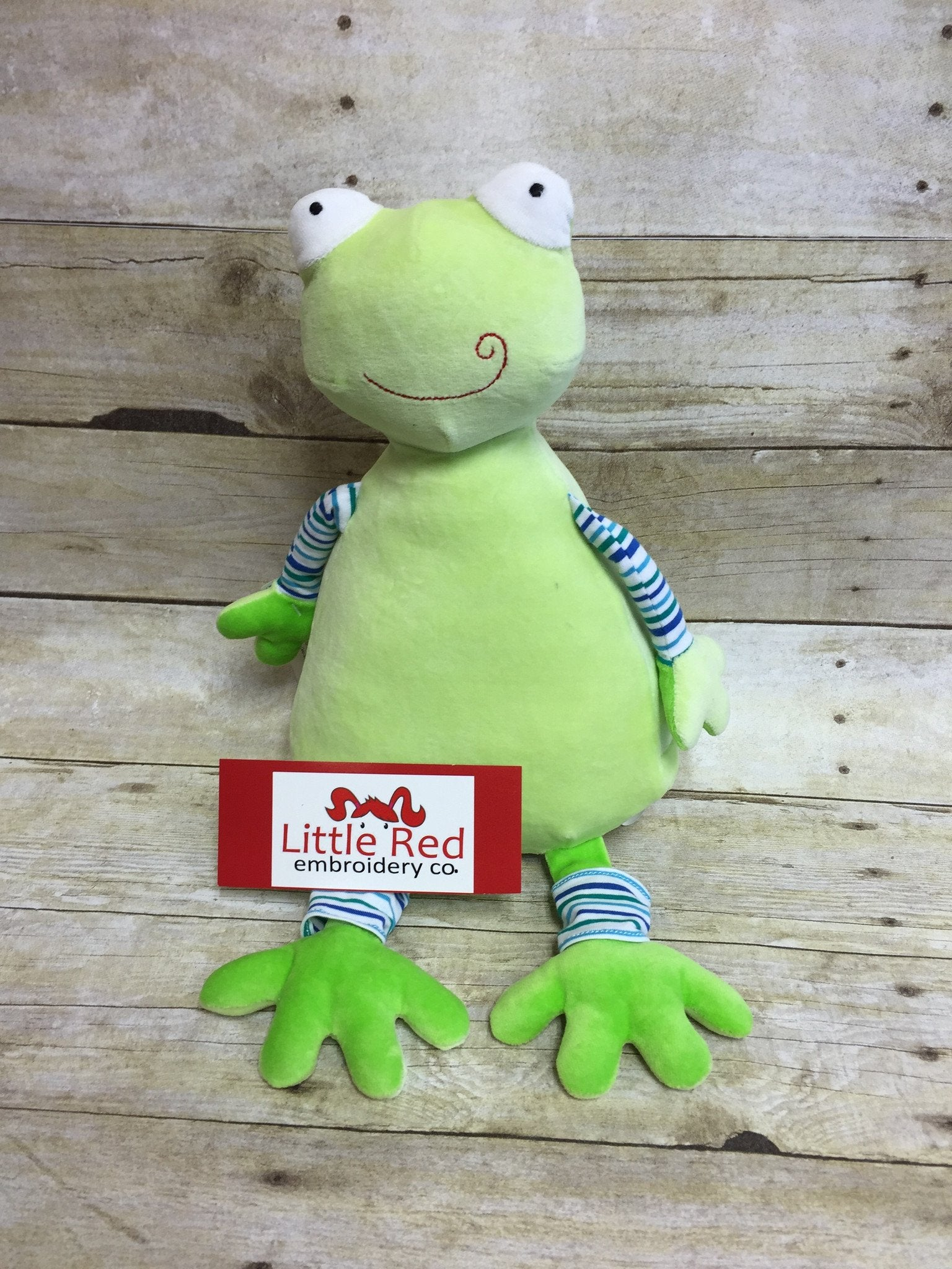 Cubbies™ Pastel Collection Frog Stuffie with Custom Embroidery