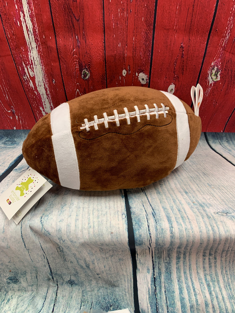 Football Pillow Stuffie with Custom Embroidery