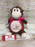 Cubbies™ Brown Monkey Stuffie with Custom Embroidery