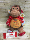 Cubbies™ Harlequin Brown Monkey Stuffie with Custom Embroidery