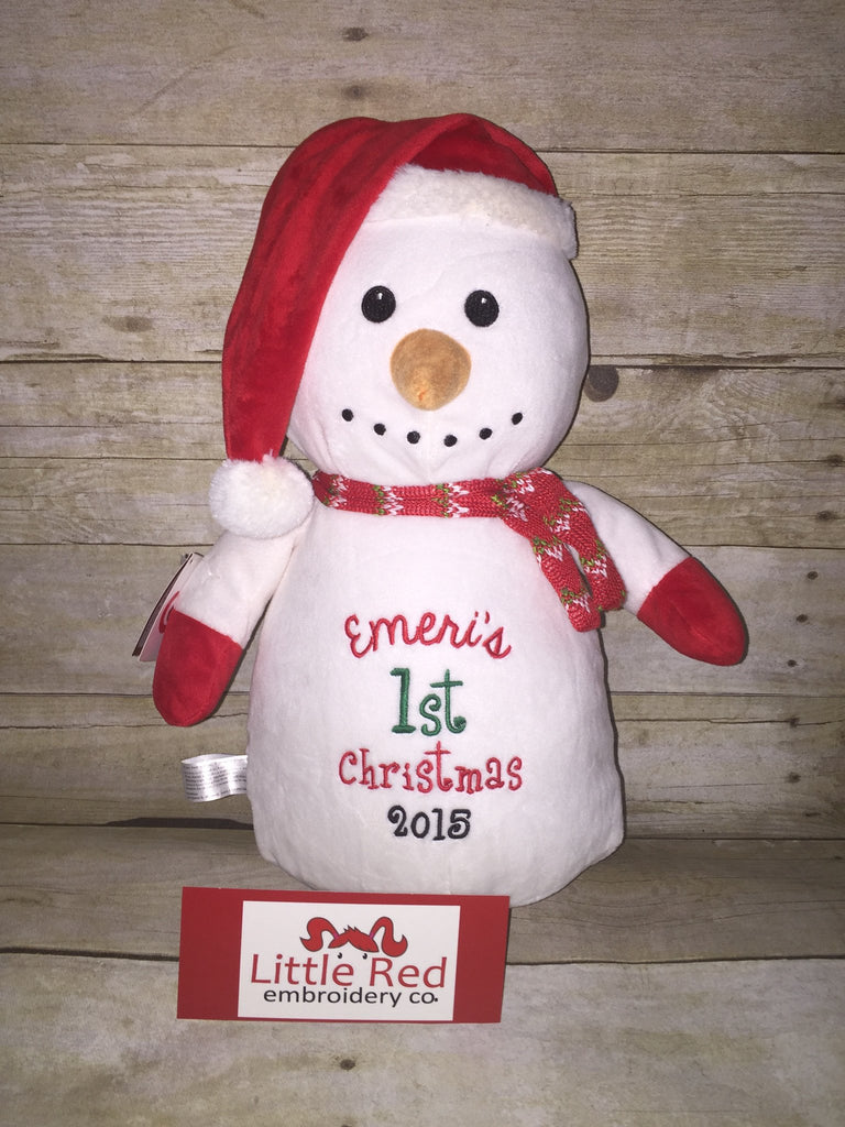 Cubbies™ Snowman Stuffie with Custom Embroidery