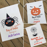 Halloween Canvas Treat Bags