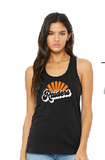 Raiders Bella+Canvas Womens Jersey Racerback Tank Top in Black - your choice of design