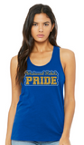 Rebels Bella+Canvas Womens Jersey Racerback Tank Top in Royal - your choice of design