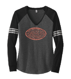 Raiders Football Womens Game Long Sleeve Vneck Tee - choice of design