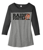 Raiders Football Womens Rally 3/4 Sleeve Tee - choice of design