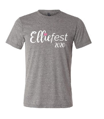 Elliefest 2020 Adult Tshirt - Grey Triblend