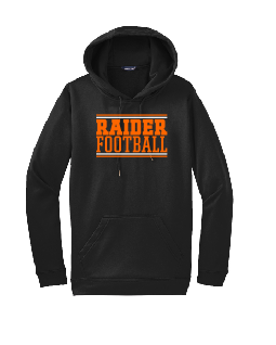 Raiders Football Sport-Wick Fleece Hooded Pullover in Black - choice of design