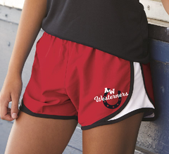 Westerners Womens & Girls Boxercraft Running Shorts in Red/White/Black