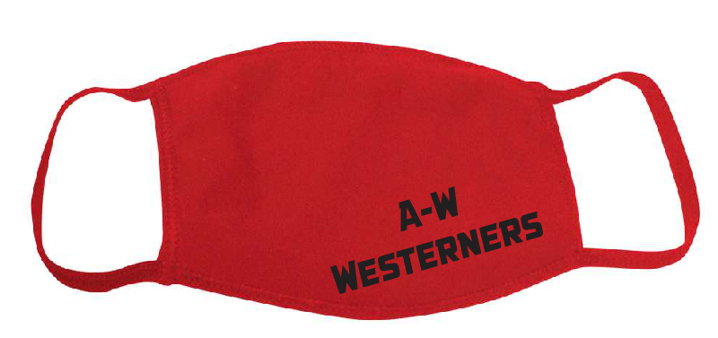 YOUTH A-W Westerners Mask - Red