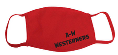 A-W Westerners Adult Mask - Red