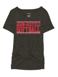 Westerners Softball Youth Girls Boxercraft Tee in Charcoal - choice of design