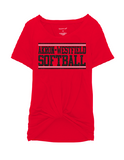 Westerners Softball Youth Girls Boxercraft Tee in Red - choice of design