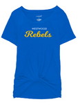 Rebels Womens Boxercraft Twisted Tee in Royal - choice of design