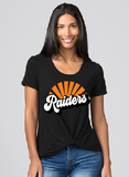 Raiders Womens Boxercraft Twisted Tee in Black - choice of design