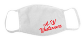 A-W Westerners Adult Mask - White