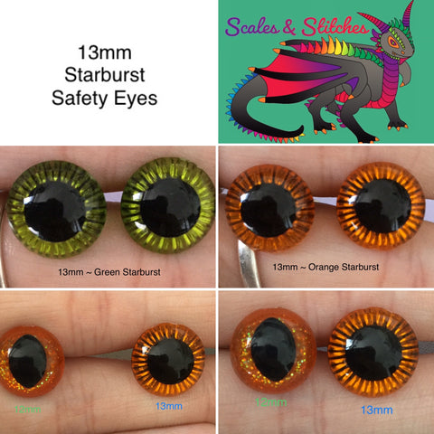 Commission Eyes ~ 13mm Starburst Eyes