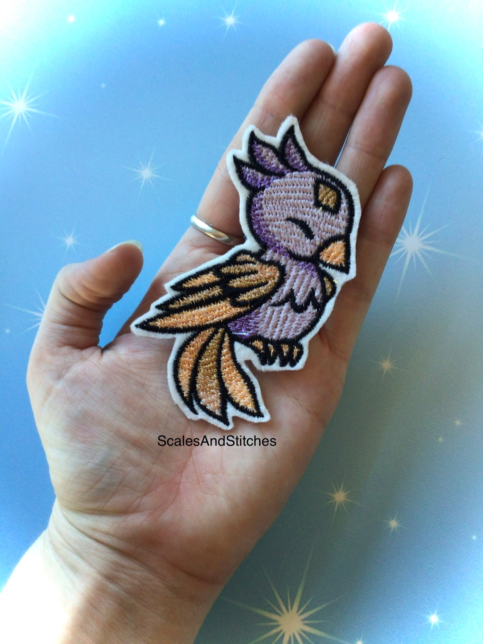 Embroidered Iron On Patch ~ Phoenix