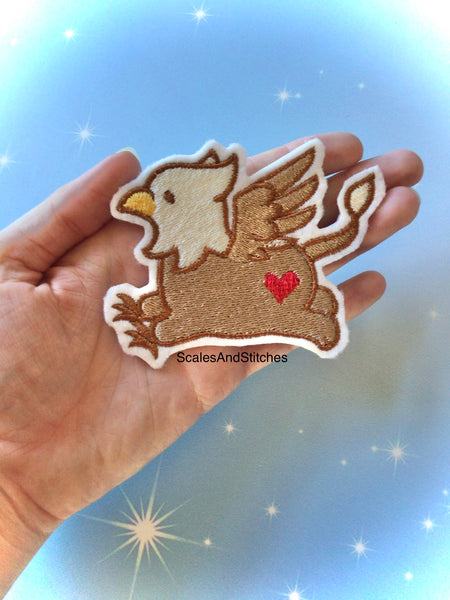 Embroidered Iron On Patch ~ Griffin
