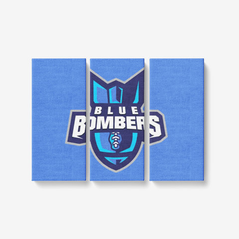 "INDIANA BLUE BOMBERS 3 PIECE CANVAS WALL ART -  3x8""x18"""