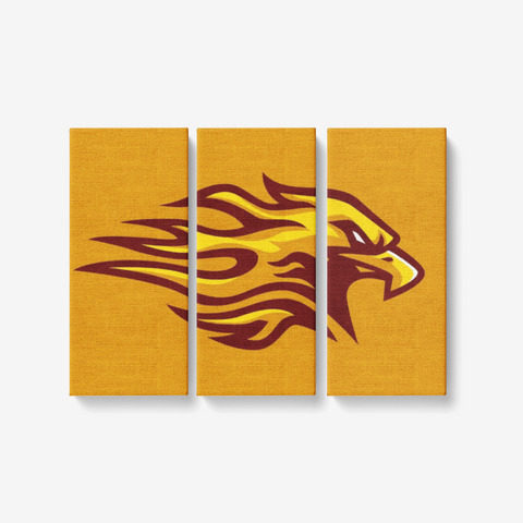 "LOUISVILLE FIREBIRDS 3 PIECE CANVAS WALL ART -  3x8""x18"""