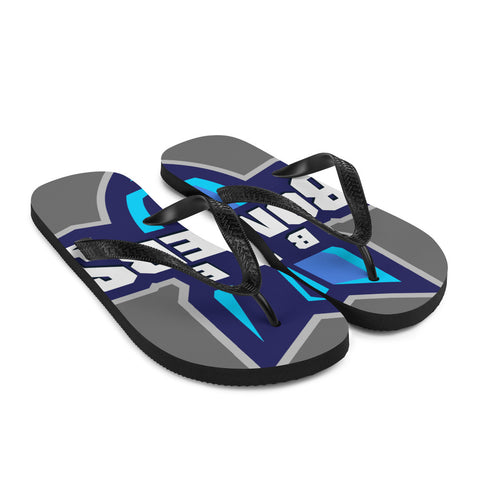 INDIANA BLUE BOMBERS FLIP-FLOPS