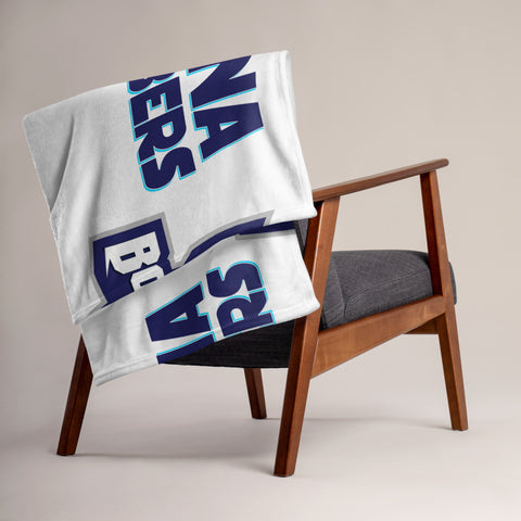 INDIANA BLUE BOMBERS THROW BLANKET